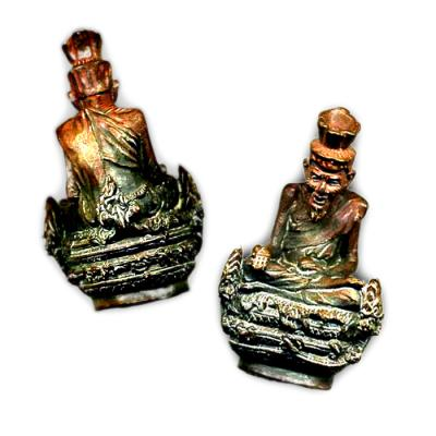 Sacred Metal Statuette of the Saintly Hindu Priest Resi Narada